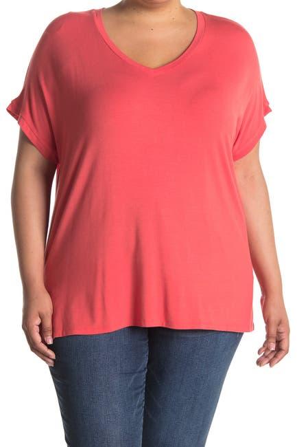 Image of Joan Vass Dolman Cap Sleeve Top