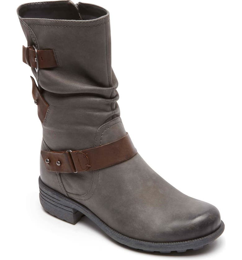 ROCKPORT COBB HILL Brunswick Boot, Main, color, DARK GREY LEATHER