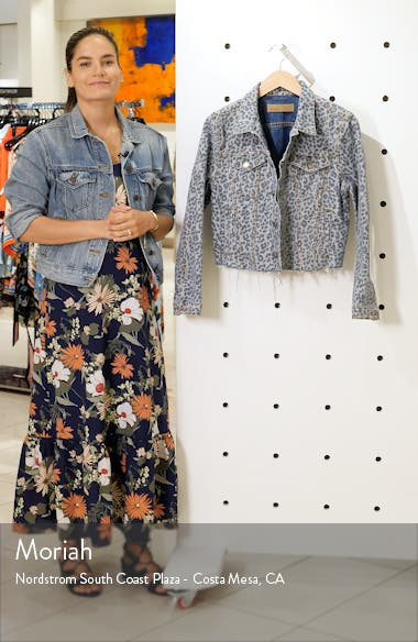 Cara Leopard Print Denim Jacket, sales video thumbnail