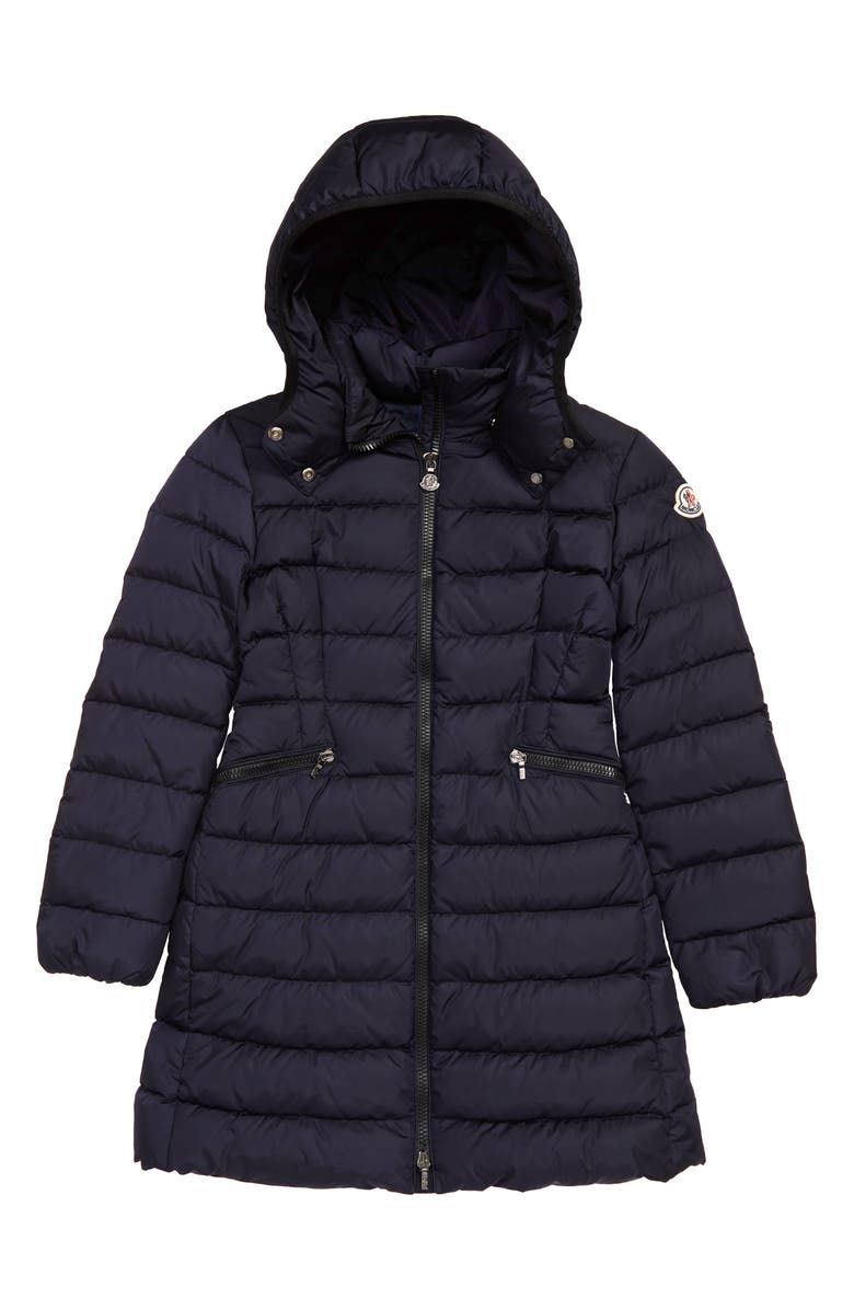 MONCLER Charpal Water Resistant Down Hooded Puffer Coat, Main, color, 419