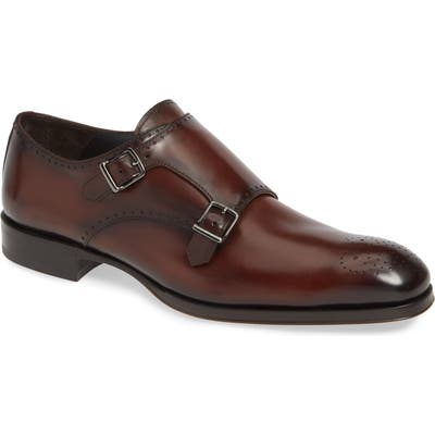 To Boot New York Crown Double Monk Strap Shoe, Brown