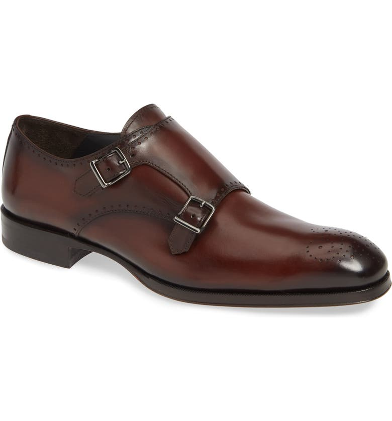 TO BOOT NEW YORK Crown Double Monk Strap Shoe, Main, color, DIVER MOGANO