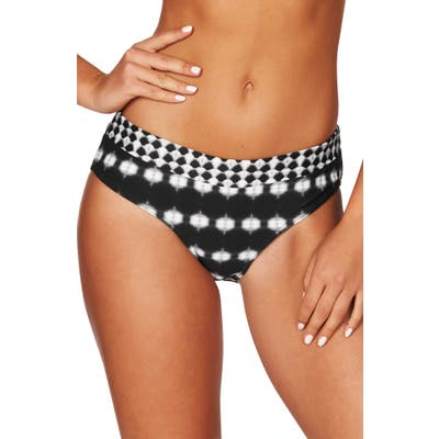 Sea Level Mid Bikini Bottoms, Black