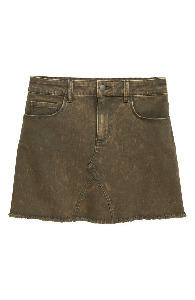 TUCKER + TATE Old School Twill Skirt, Main, color, OLIVE SARMA WASH