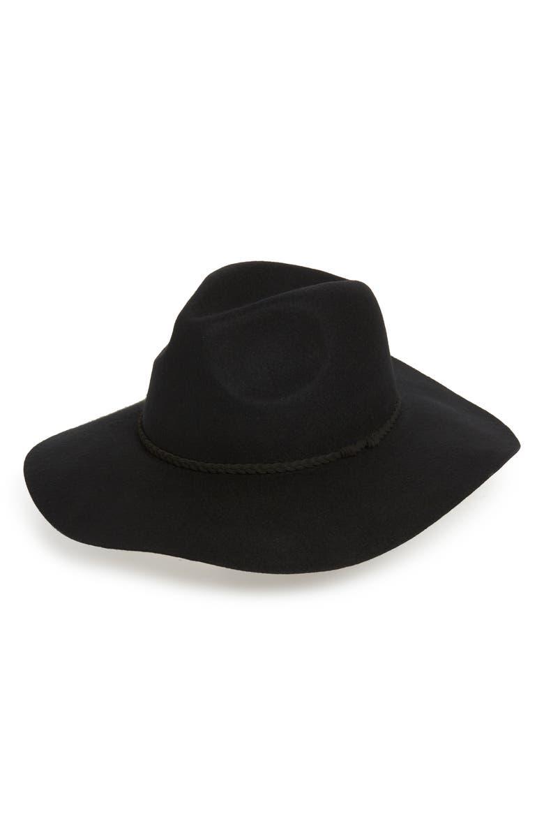 BP. Wide Brim Felt Panama Hat, Main, color, 001