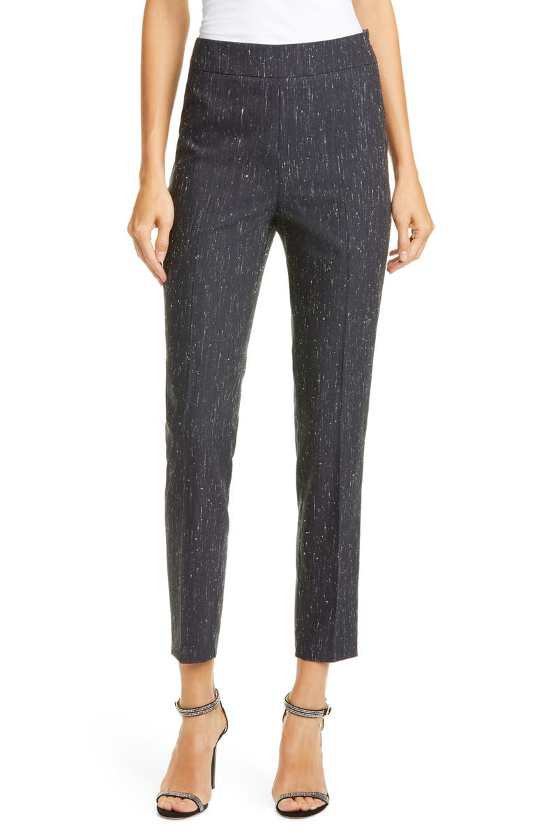 FABIANA FILIPPI Rain Effect Bouclé Pants, Main, color, 400
