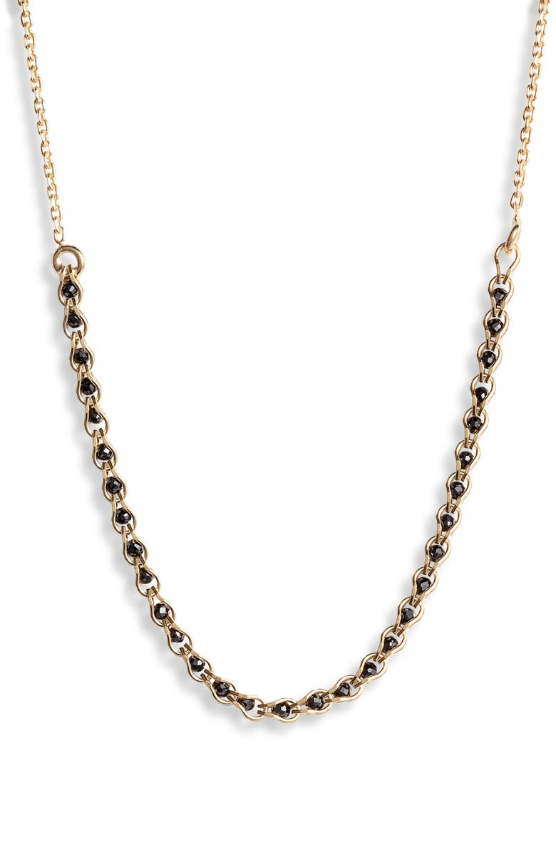 Argento Vivo Caged Crystal Frontal Necklace