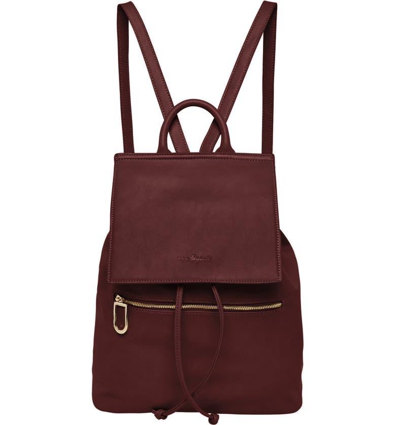 URBAN ORIGINALS Vegan Leather Hide And Seek Backpack, Main, color, BURGUNDY