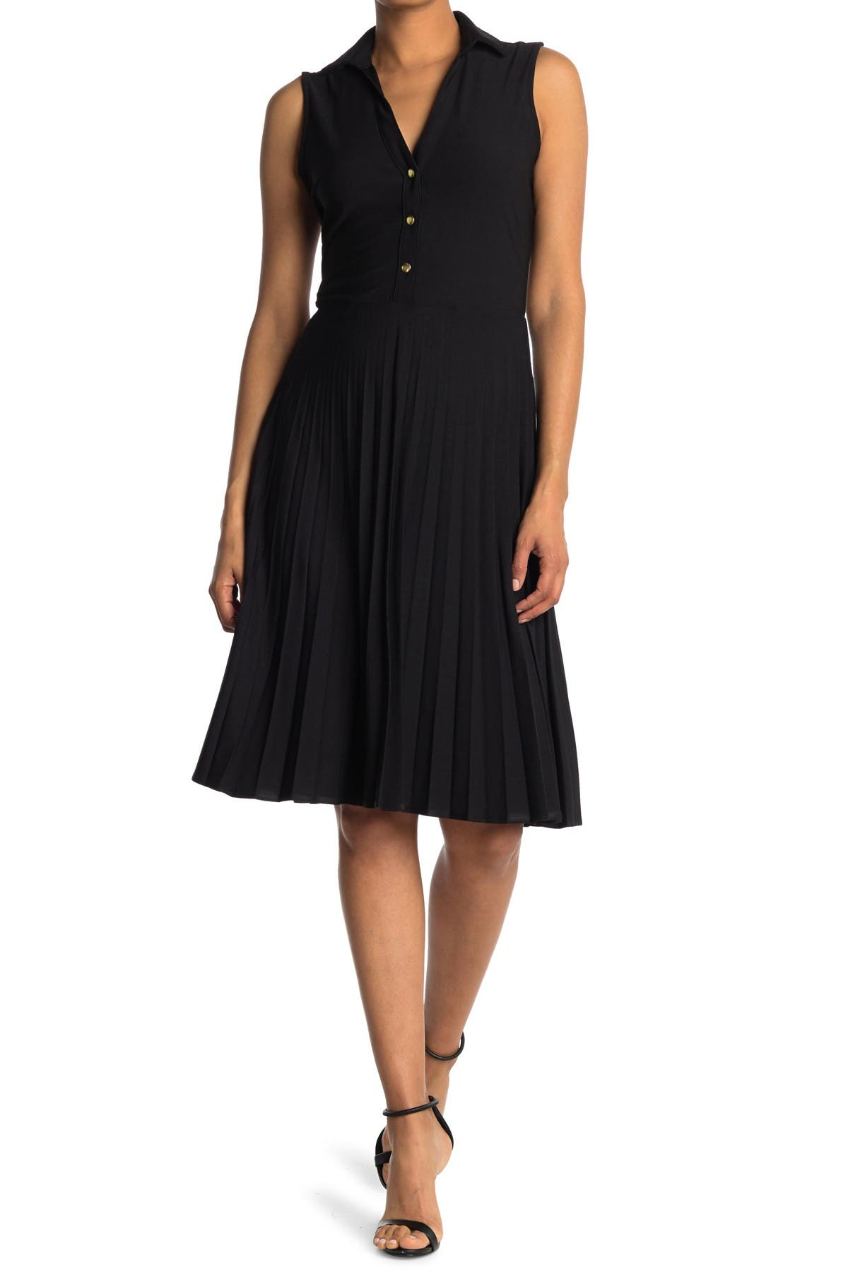 Image of TASH + SOPHIE Collared Dress w/ Pleated Skirt