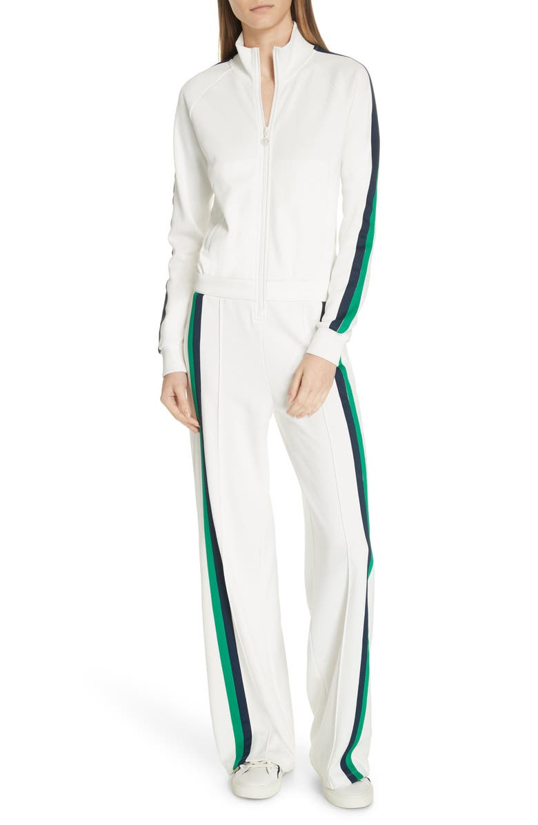 TORY SPORT Double Stripe Track Jumpsuit, Main, color, 100