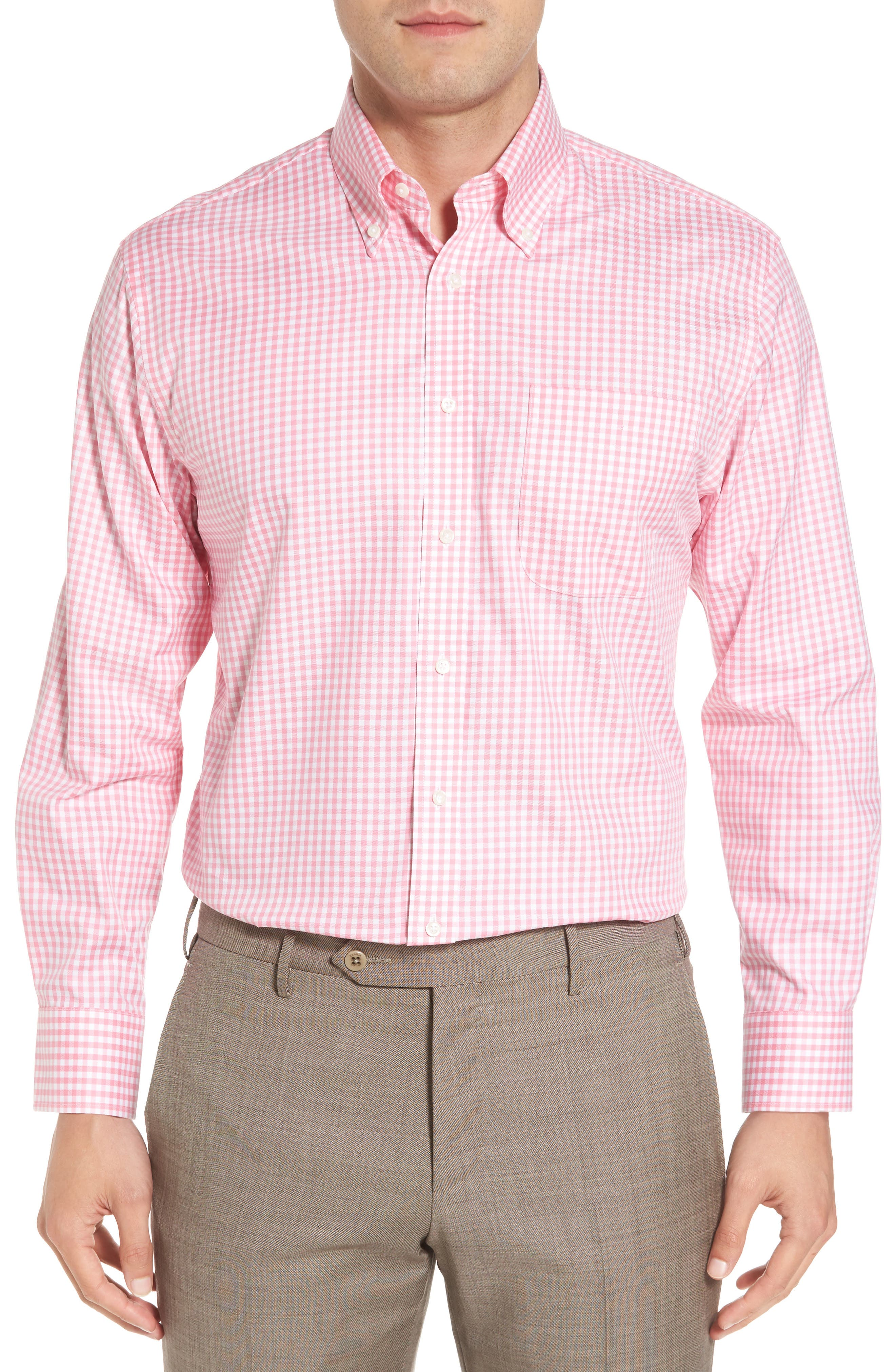 ,                             Traditional Fit Non-Iron Gingham Dress Shirt,                             Main thumbnail 33, color,                             680