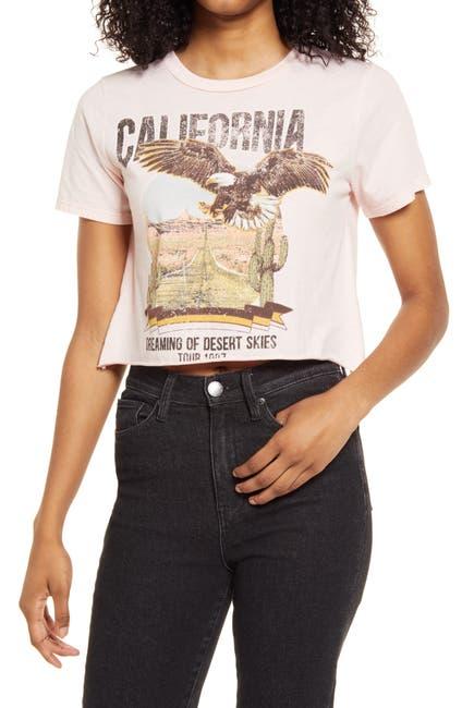 Image of VINYL ICONS Desert Skies Graphic Crop T-Shirt