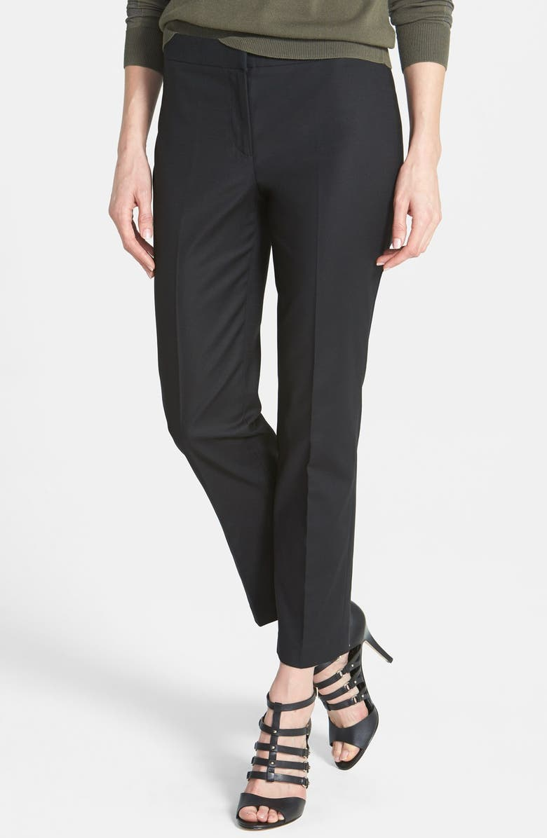 NIC+ZOE The Perfect Ankle Pants, Main, color, BLACK ONYX