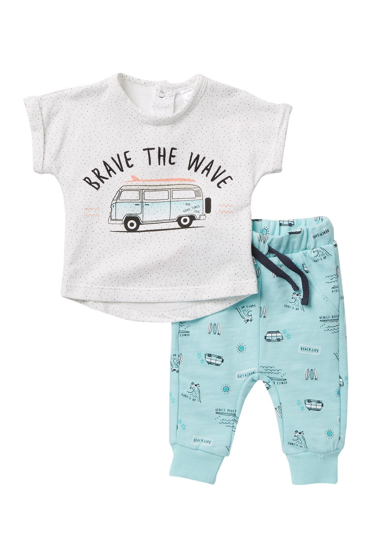 Image of Petit Lem Brave the Wave Top & Joggers Set