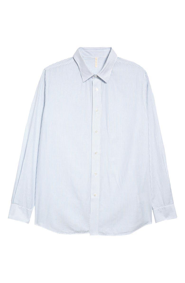 SUNFLOWER Stripe Button-Up Shirt, Main, color, 400