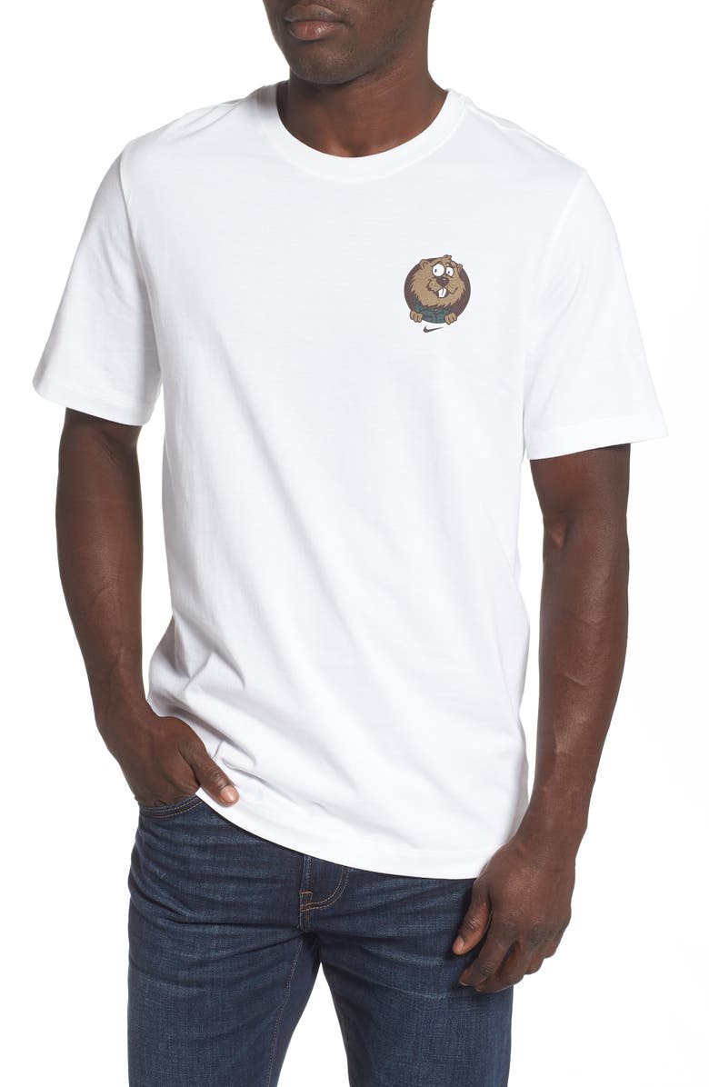 NIKE SB Gopher Pennant T-Shirt, Main, color, WHITE