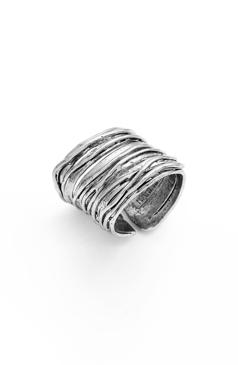 KARINE SULTAN Adjustable Band Ring, Main, color, 040