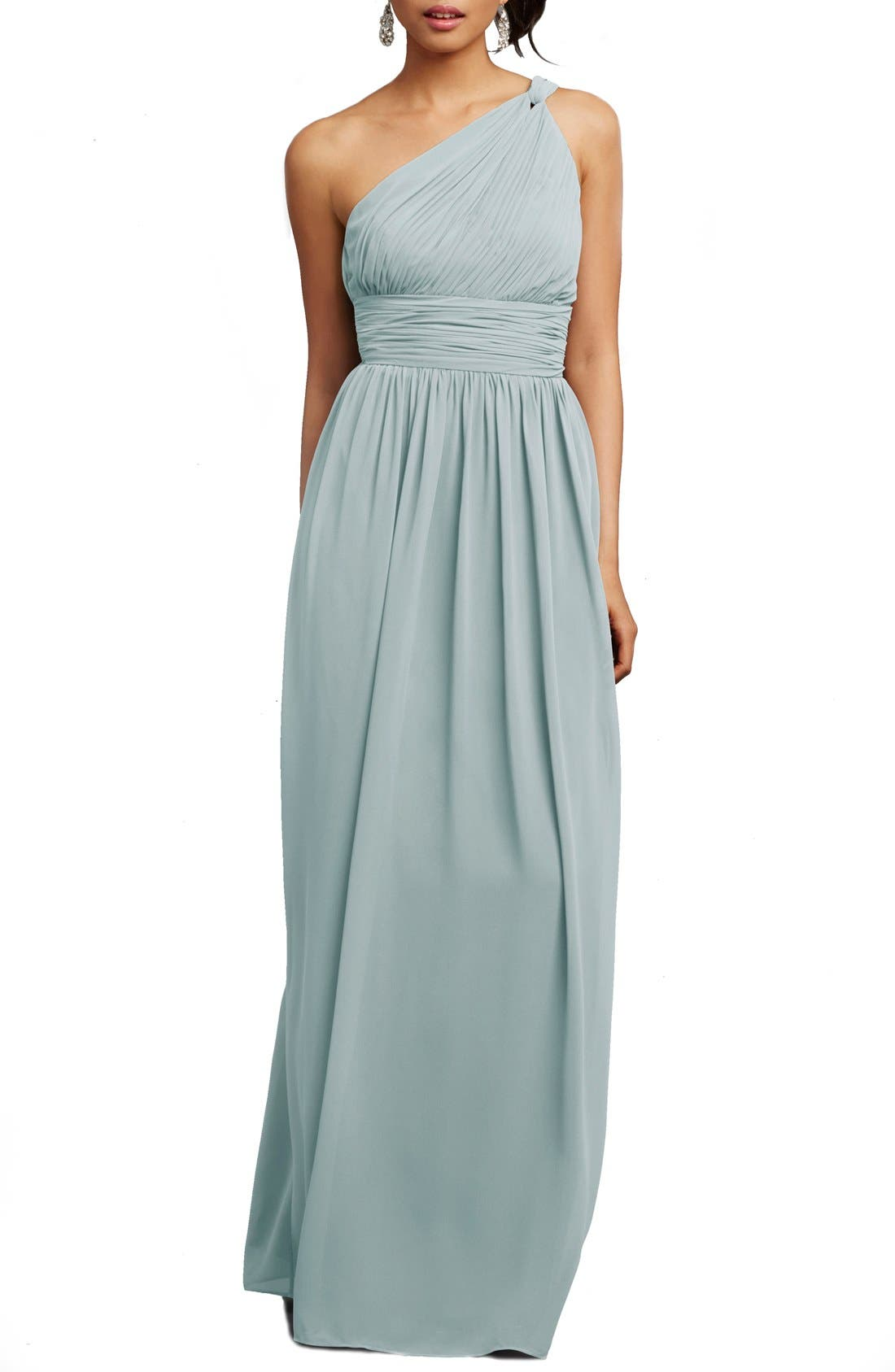 ,                             'Rachel' Ruched One-Shoulder Chiffon Gown,                             Alternate thumbnail 61, color,                             400