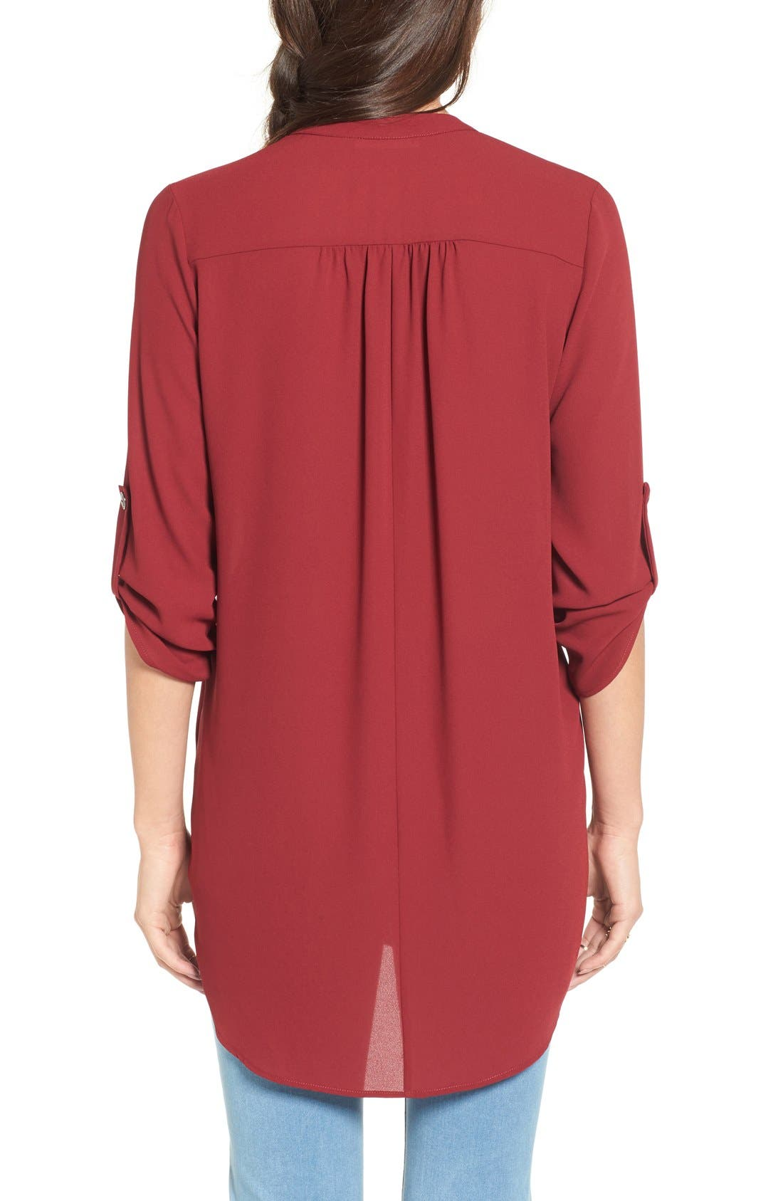 ,                             Perfect Roll Tab Sleeve Tunic,                             Alternate thumbnail 440, color,                             932
