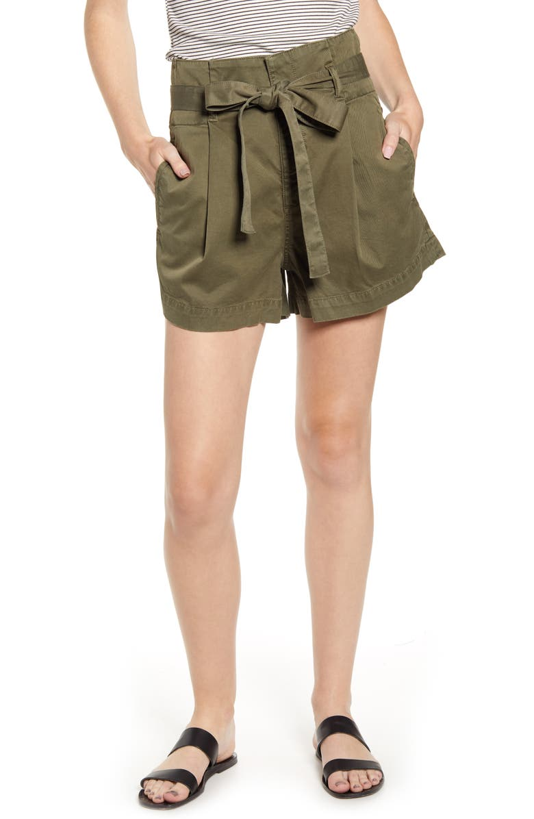 Camile Tie Paperbag Waist Stretch Cotton Shorts by Dl1961