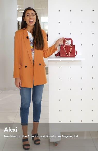 Case Chain Detail Faux Leather Crossbody Bag, sales video thumbnail