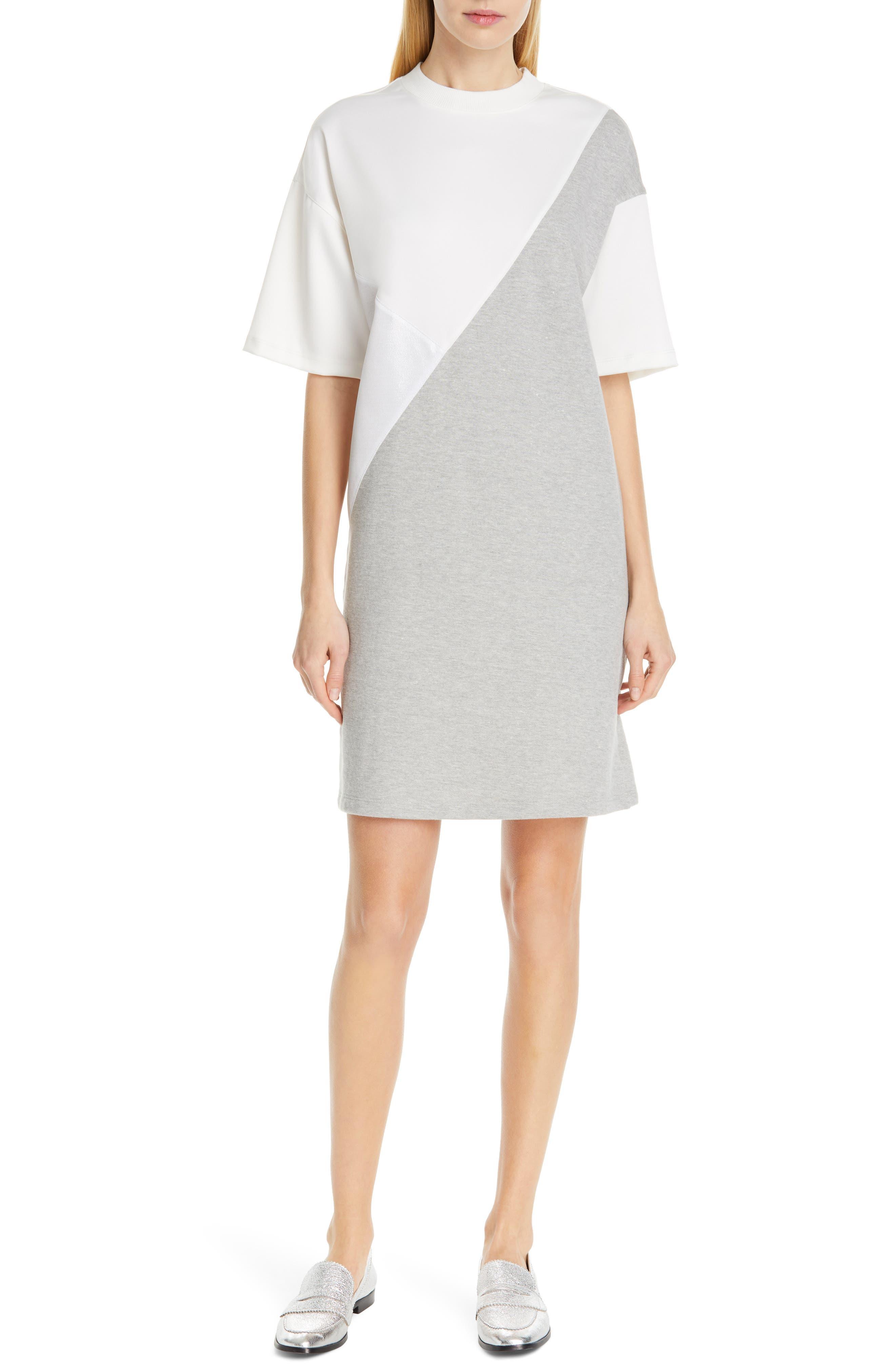 Clu Colorblock Dress, White