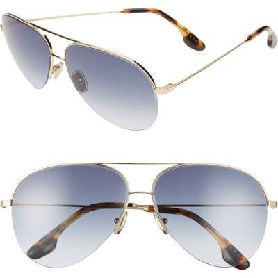 Victoria Beckham 62mm Gradient Aviator Sunglasses - Gold/ Blue