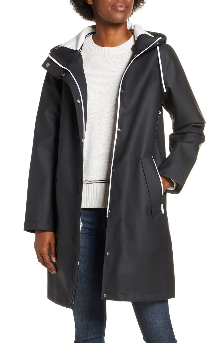 UGG<SUP>®</SUP> Zooey Waterproof Rain Jacket, Main, color, BLACK
