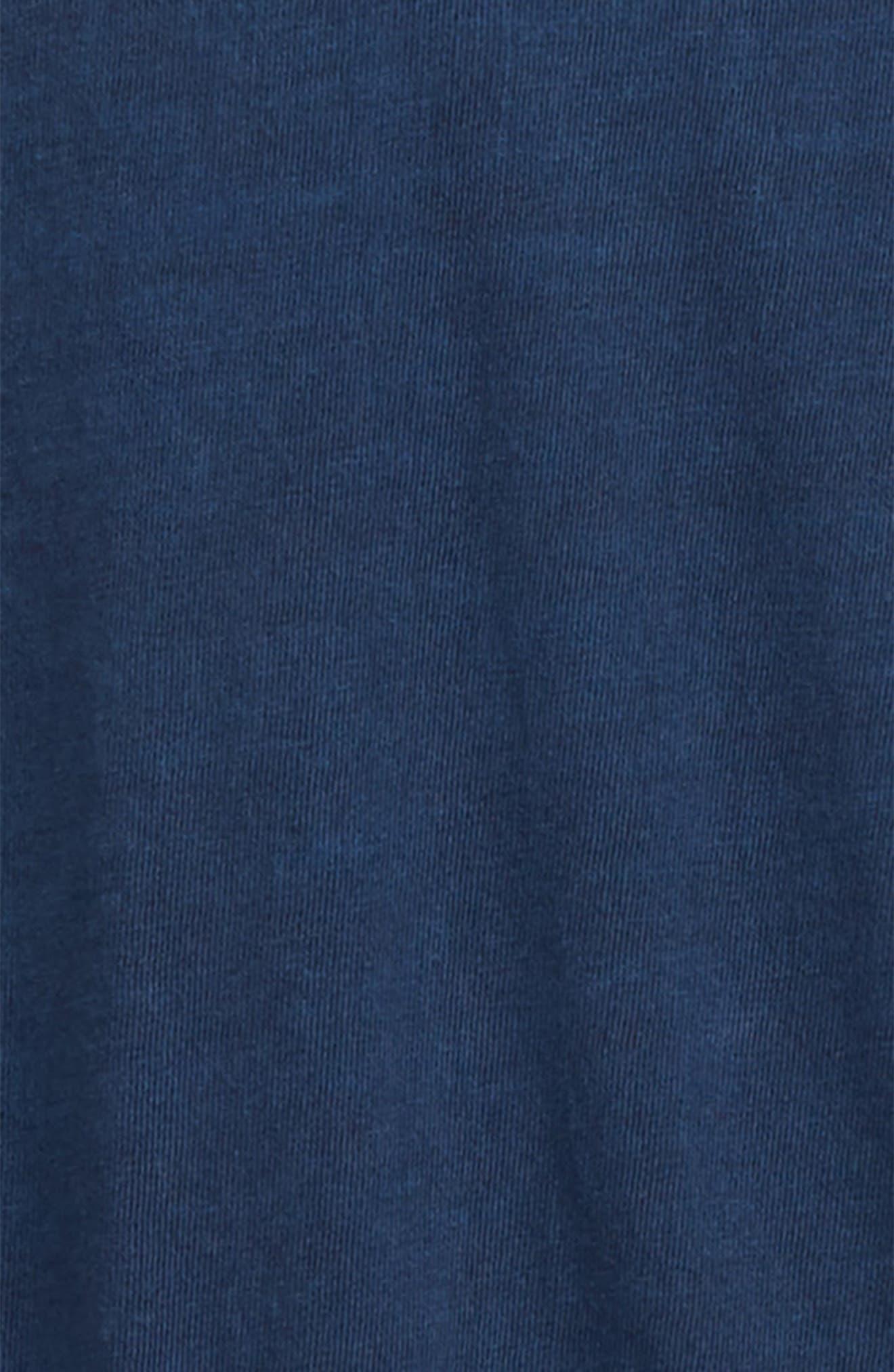 ,                             Tie Back Knit Romper,                             Alternate thumbnail 3, color,                             BLUE WING