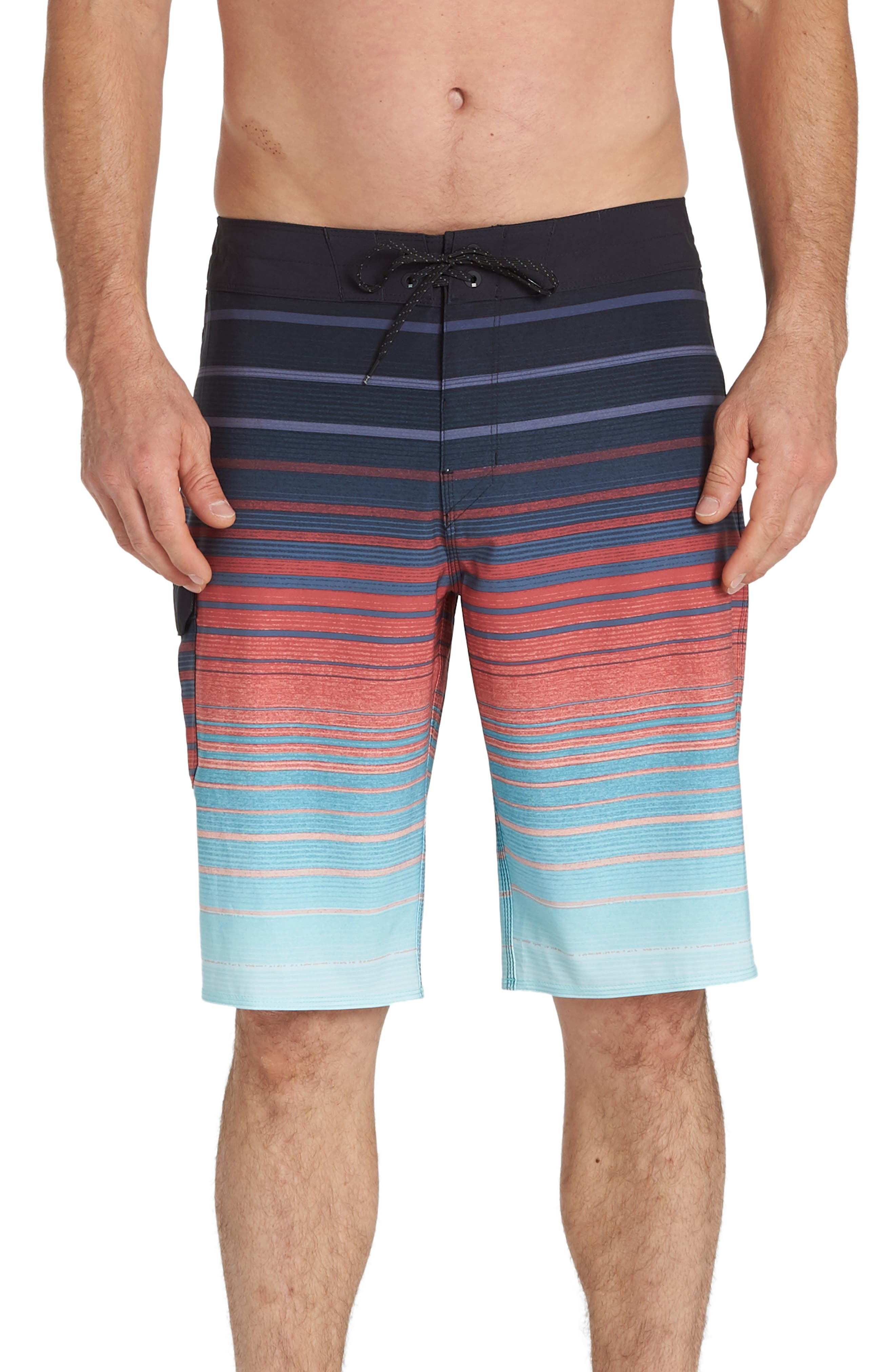 Billabong All Day Stripe Pro Board Shorts, Blue/green
