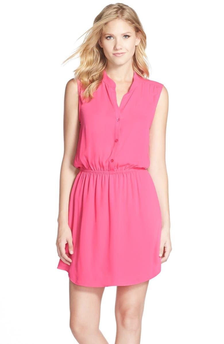 CHARLES HENRY Crepe Shirtdress, Main, color, 650