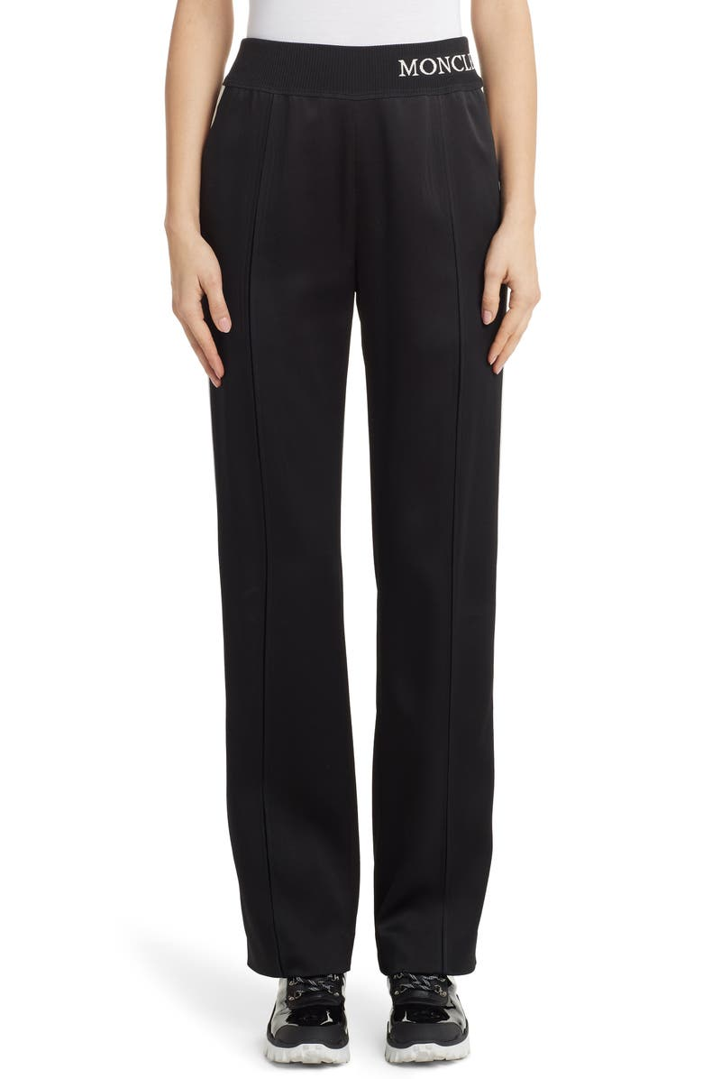 MONCLER Contrast Stripe Track Pants, Main, color, BLACK