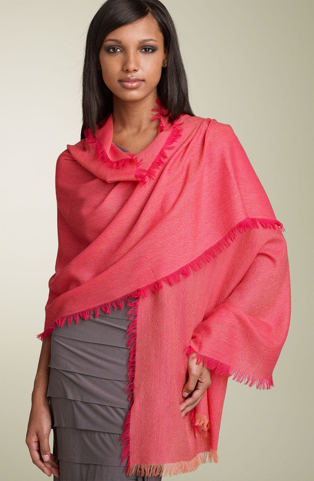 ,                             'Eyelash' Colorblock Cashmere Wrap,                             Main thumbnail 101, color,                             705