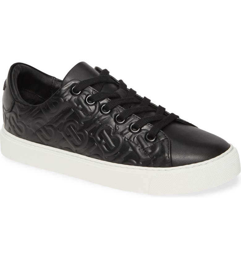 BURBERRY Albridge Monogram Sneaker, Main, color, BLACK