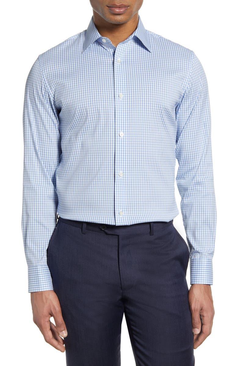 BONOBOS Slim Fit Check Dress Shirt, Main, color, PRESTWOOD PLAID VENTANA BLUE