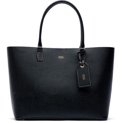 Frances Valentine Trixie Boarskin Leather Tote - Black