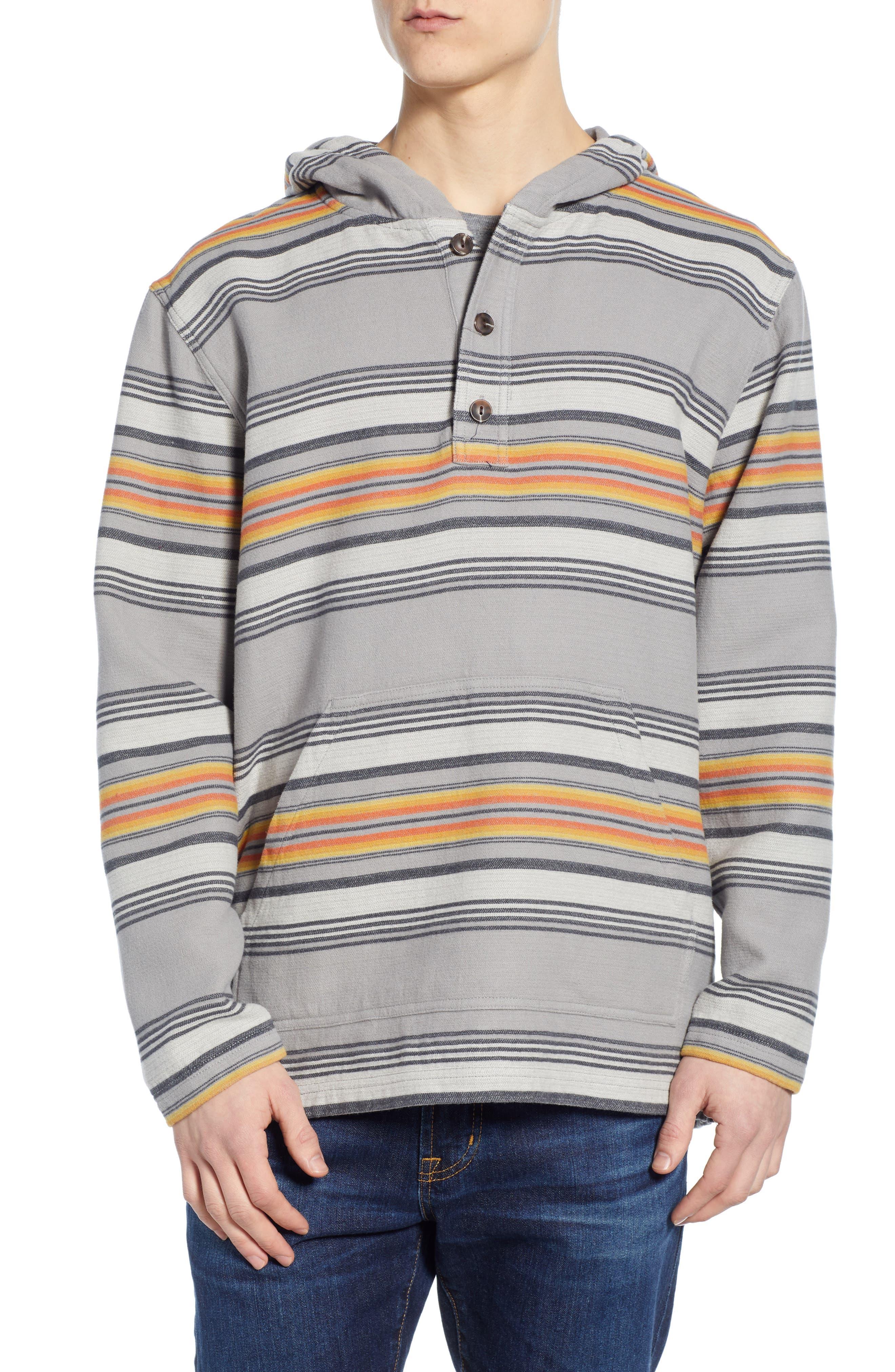 Serape Stripe Hoodie, Main, color, GREY STRIPE