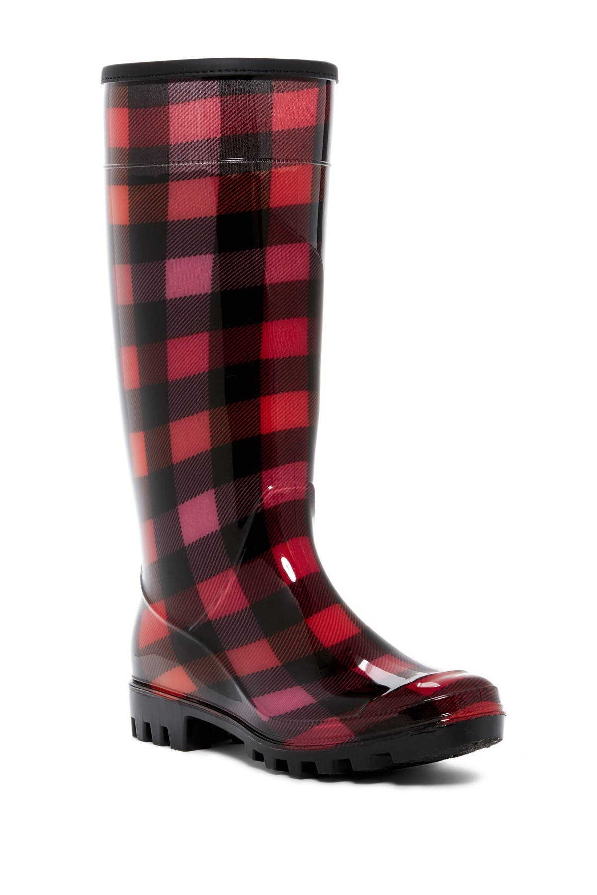 Image of Dirty Laundry Ring Leader Plaid Rain Boot