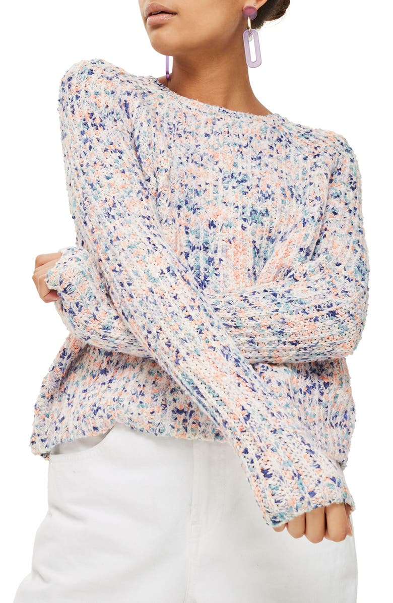 TOPSHOP Neppy Popcorn Sweater, Main, color, 460