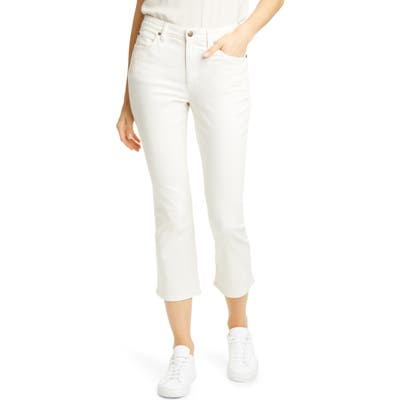 Eileen Fisher Stretch Organic Cotton Crop Flare Jeans, White