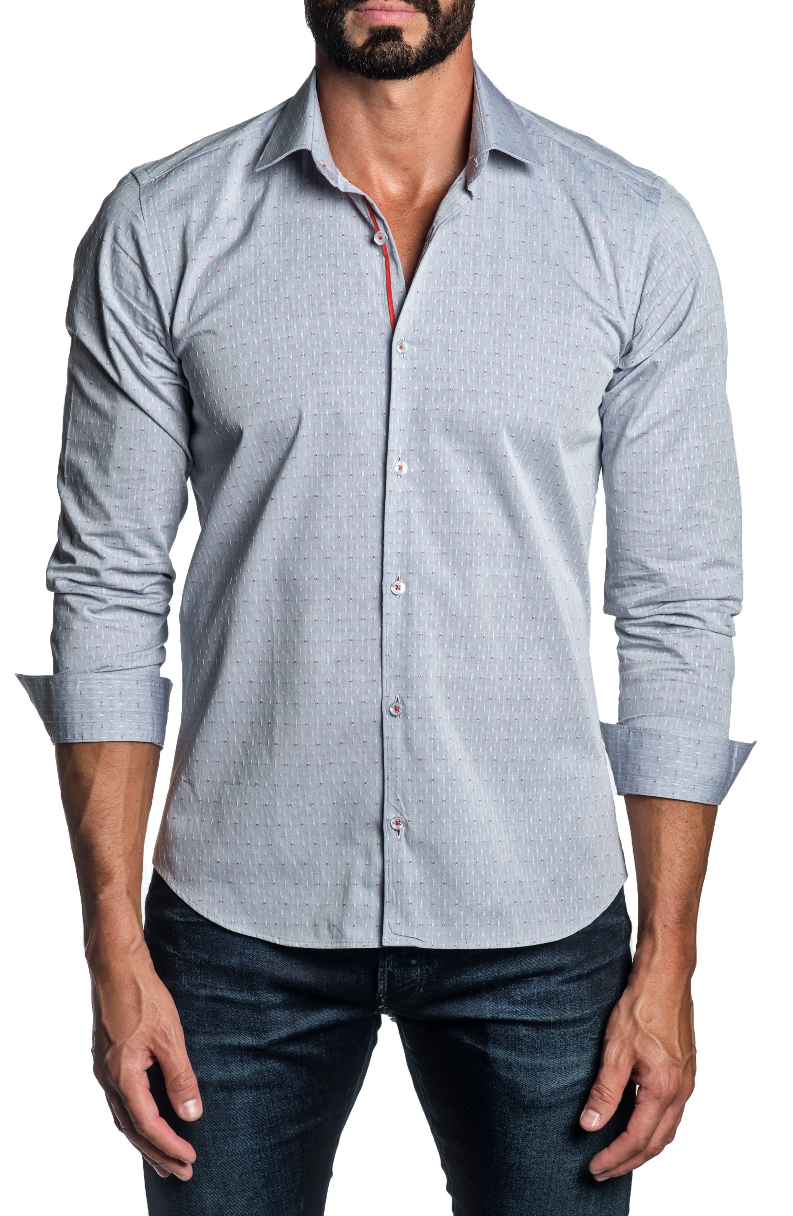 Regular Fit Diamond Button-Up Shirt