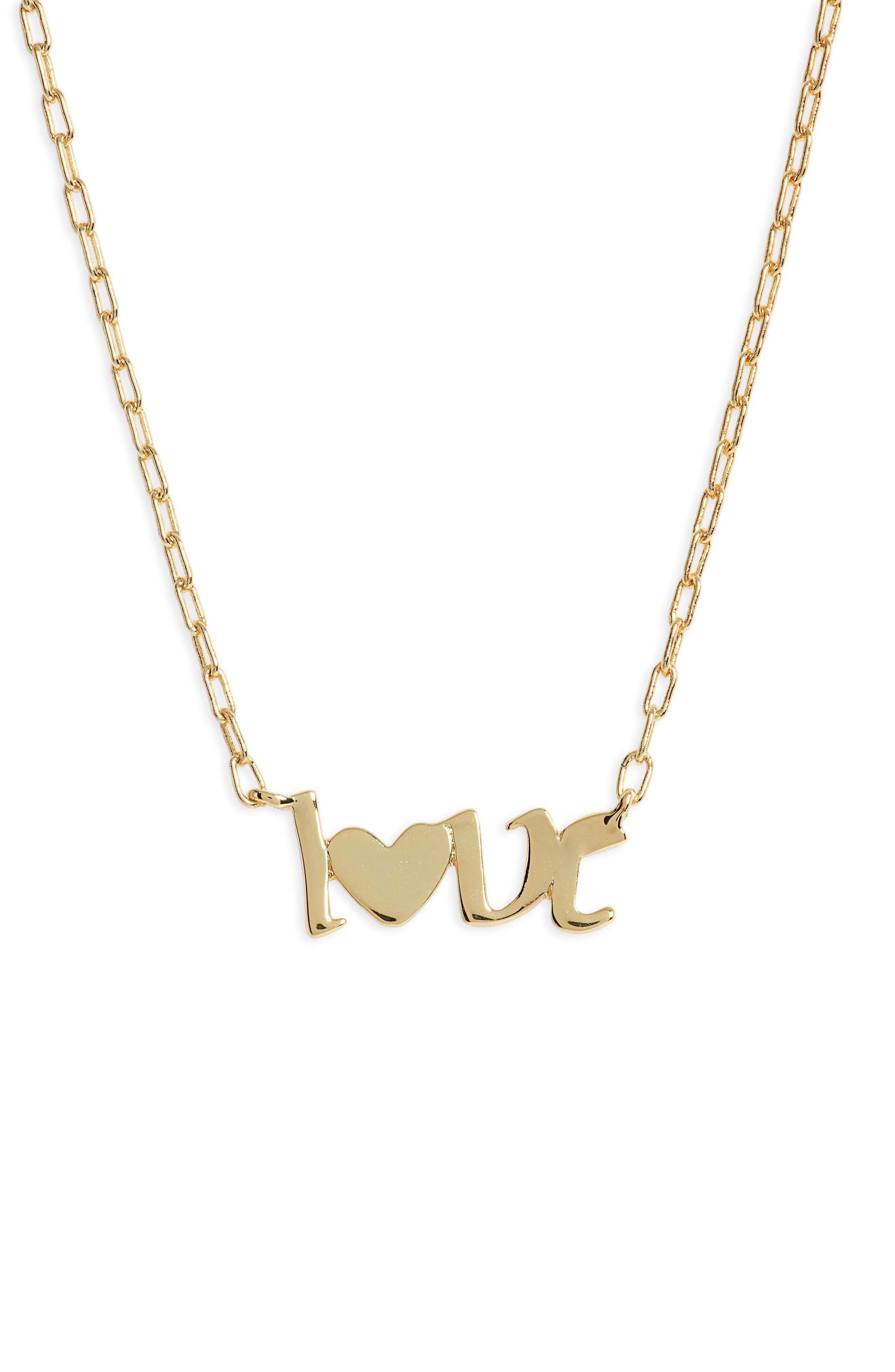 Love Script Pendant Necklace
