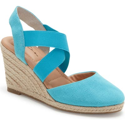 Me Too Brinley Espadrille Wedge- Green