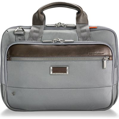 Briggs & Riley @work Small Expandable Ballistic Nylon Laptop Briefcase With Rfid Pocket - Grey