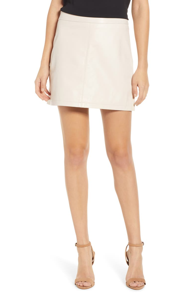 bfff485fa cupcakes and cashmere Marrie Leather Miniskirt   Nordstrom