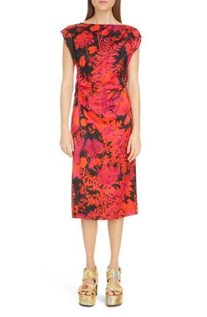 Image of DRIES VAN NOTEN Deto Floral Print Midi Dress