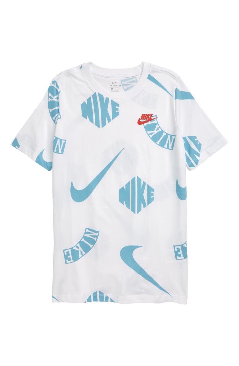 NIKE Sportswear Palm Collage Print T-Shirt, Main, color, 100