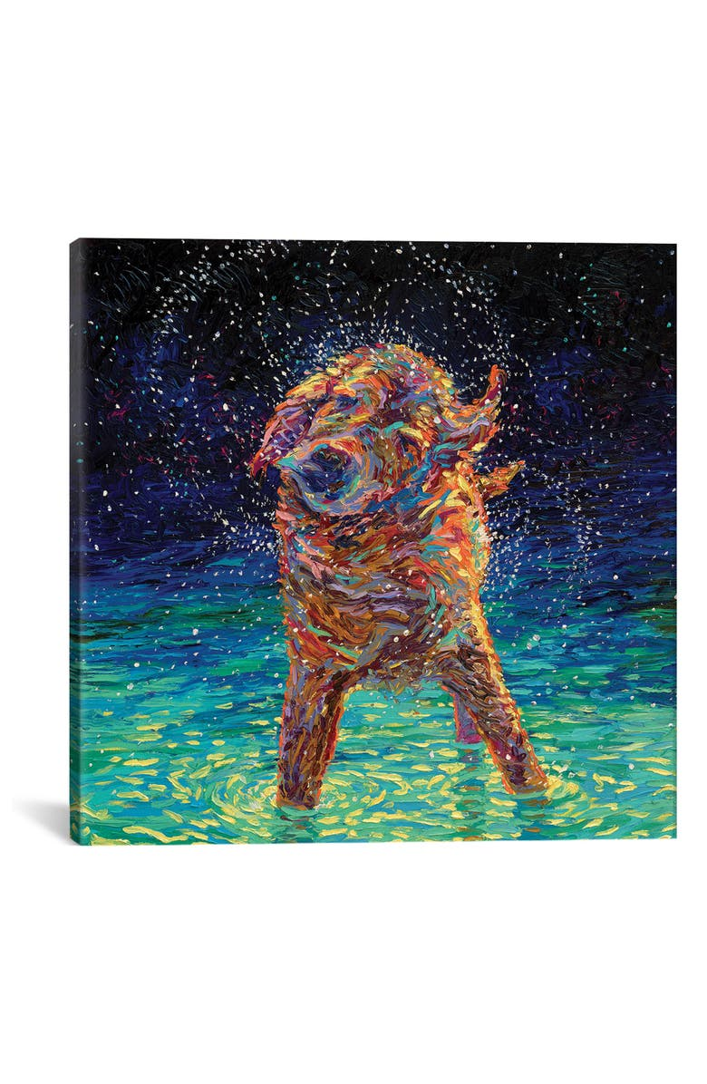 ICANVAS Moonlight Swim by Iris Scott Giclée Print Canvas Art, Main, color, BLUE/ GREEN