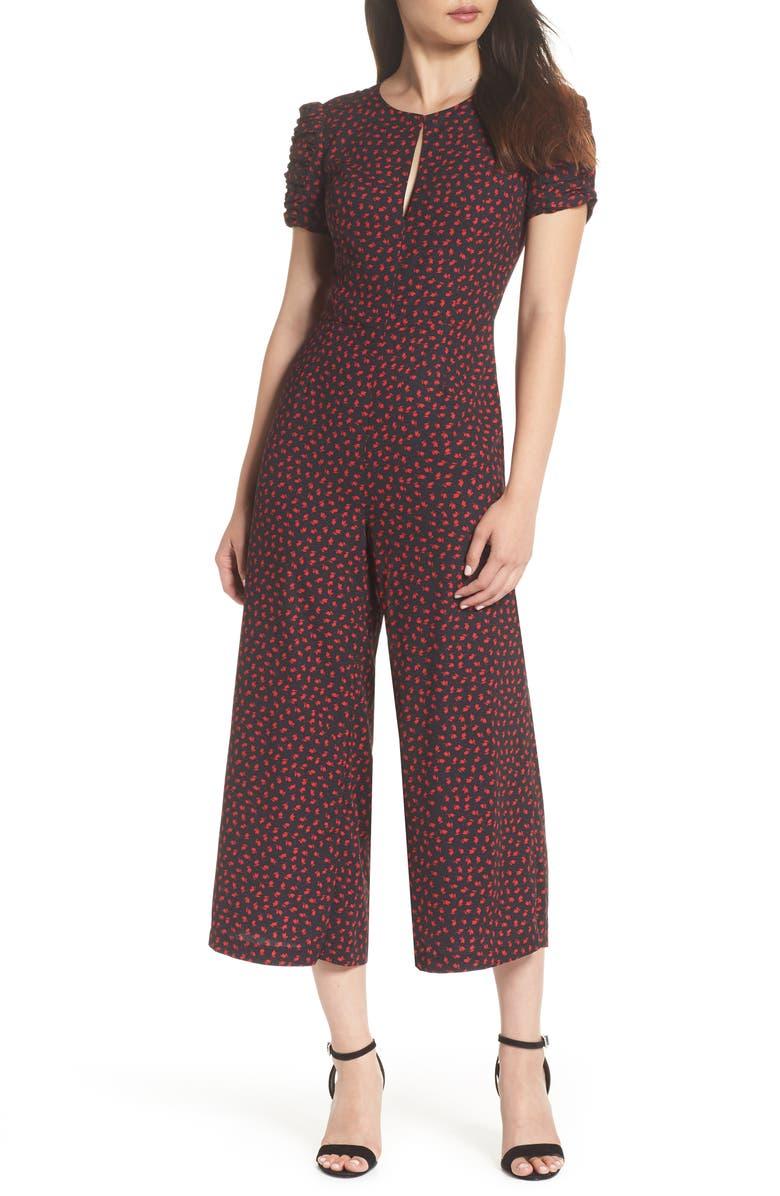 ADELYN RAE Vivianna Crop Jumpsuit, Main, color, 001