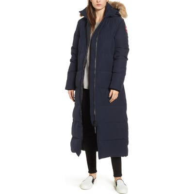 Canada Goose Mystique Down Parka With Genuine Coyote Fur Trim, (2-4) - Blue